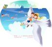 快乐署假生活0030,快乐署假生活,人物,飞鸟 翅膀 小鱼