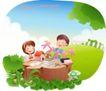 快乐署假生活0042,快乐署假生活,人物,树桩 快乐 童年