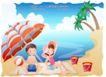 快乐署假生活0050,快乐署假生活,人物,海风 吹拂 伞倒
