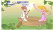 情人节卡通插画0038,情人节卡通插画,人物,湖面上 幸福的一对 划船