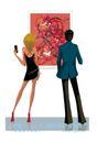 时尚城市女性0005,时尚城市女性,人物,艺术 绘画 展厅
