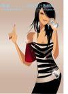 时尚城市女性0010,时尚城市女性,人物,口渴 喝水 手指