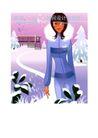 时尚城市女性0014,时尚城市女性,人物,雪天 高挑女子 出行 小径 白雪