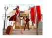 时尚城市女性0045,时尚城市女性,人物,拖行 行李箱 急行