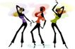 时尚女孩插画0033,时尚女孩插画,人物,三个女孩 舞姿优美 好身材