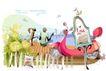 时尚女孩插画0046,时尚女孩插画,人物,停车 河畔 变爱