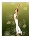 时尚生活运动0003,时尚生活运动,人物,伸长 细腰 举手
