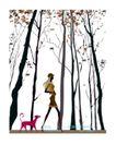 时尚简单生活0006,时尚简单生活,人物,小狗 跟随 主人