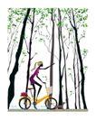 时尚简单生活0010,时尚简单生活,人物,绿色 树林 踏春
