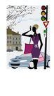 时尚简单生活0012,时尚简单生活,人物,交通灯 小汽车 黑皮肤 红绿灯 交通标志