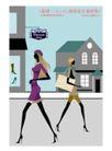 时尚简单生活0015,时尚简单生活,人物,路过 行人 擦肩而过 忙碌生活 路边建筑