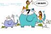时尚简笔插画0147,时尚简笔插画,人物,坐大象 小象 男孩女孩