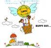 时尚简笔插画0156,时尚简笔插画,人物,氢气球 浪漫 漫画