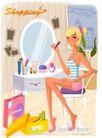 时尚购物女孩0029,时尚购物女孩,人物,化妆 粉底 装扮