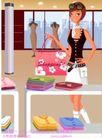 时尚购物女孩0031,时尚购物女孩,人物,时尚女郎 服装店 买衣服