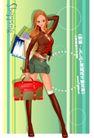 时尚购物女孩0055,时尚购物女孩,人物,牛仔短裤 沉重 采购