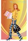 时尚购物女孩0061,时尚购物女孩,人物,耳环 皮鞋 长袖