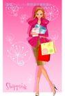 时尚购物女孩0063,时尚购物女孩,人物,礼盒 外套 红唇