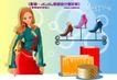 时尚购物女孩0076,时尚购物女孩,人物,鞋店 高跟鞋架 购物狂