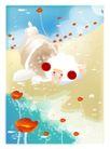 梦幻插画0008,梦幻插画,人物,遍野 红花 飘香