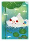 梦幻插画0010,梦幻插画,人物,纸折 小船 荷叶