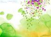 水彩背景及其花纹0074,水彩背景及其花纹,人物,炫彩图案 垂落花朵 彩晕