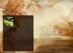 水彩背景及其花纹0077,水彩背景及其花纹,人物,秋的剪影 大片黄叶 简笔城市
