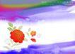 水彩背景及其花纹0092,水彩背景及其花纹,人物,自然 季节 山河