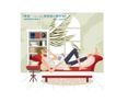 爱上小资生活0041,爱上小资生活,人物,躺靠 书房 沙发
