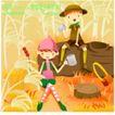 田园玩耍0017,田园玩耍,人物,开心童年