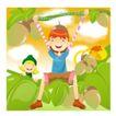 田园玩耍0019,田园玩耍,人物,绿色田园 顽皮孩子