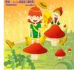 田园玩耍0020,田园玩耍,人物,童年玩伴 大蘑菇