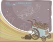 简单生活插画0048,简单生活插画,人物,花车 依靠 休息