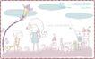 简单生活插画0057,简单生活插画,人物,弯曲 照明 啄木鸟
