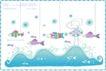 简单生活插画0091,简单生活插画,人物,鱼儿 海水 美术