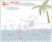 简单生活插画0096,简单生活插画,人物,树 鱼儿 坐着