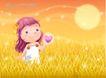 精品儿童与风景0006,精品儿童与风景,人物,黄色 月夜 光芒
