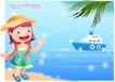 精品儿童与风景0018,精品儿童与风景,人物,轮船