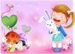 精品儿童与风景0022,精品儿童与风景,人物,兔子 卡通 羊角辫