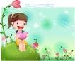 精品儿童与风景0023,精品儿童与风景,人物,鲜花 爱心 桃心