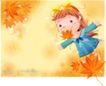 精品儿童与风景0041,精品儿童与风景,人物,红色 枫叶 梦境