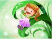 精品儿童与风景0045,精品儿童与风景,人物,滑落 青色 叶子