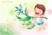 精品儿童与风景0046,精品儿童与风景,人物,对话 小鸟 歌唱