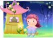 精品儿童与风景0050,精品儿童与风景,人物,花藤 生长 屋檐
