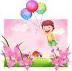 精品儿童与风景0056,精品儿童与风景,人物,气球 梦想 升空