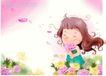 精品儿童与风景0059,精品儿童与风景,人物,摘花 花香 陶醉