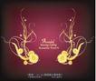 精美背景花纹0014,精美背景花纹,人物,金色花朵