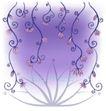 精美背景花纹0015,精美背景花纹,人物,花枝低垂 紫色花朵
