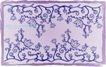 精美背景花纹0053,精美背景花纹,人物,牵牛花 紫色背景 画框