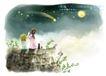 精美风景与人物0009,精美风景与人物,人物,月夜 流星 坠落